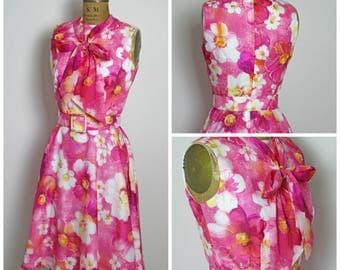 1960S Floral Julie Miller Dress