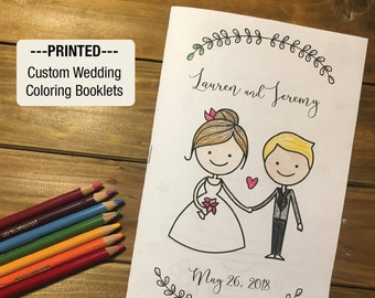 printed wedding coloring booklet single sample 8 page booklet coloring - Custom Coloring Book