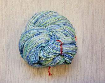 Ocean Breezes Lace Weight Silk Yarn - Light Blue & Green