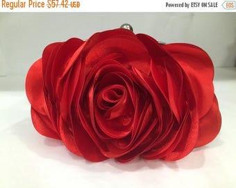 Wedding clutch, bridesmaid clutch, Red bag, Red clutch, bridal evening bag, formal bag, formal clutch, Red Rode clutch, party evening bag