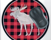 Moose Mouse pad, Moose Office Desk Accessory, Moose Desk decor, Moose Electronics pad, Moose mousepad, Moosepad