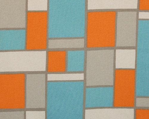 Orange And Turquoise Hopscotch Curtains Rod Pocket 63 72