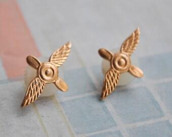 "Vintage Soviet Russian Air Force uniform badges.""Wings"""