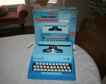 Vintage Buddy L Easy Writer Typewriter 200 Kids Typewriter Blue Original Box 1978