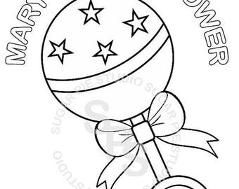 on sale personalized printable baby shower favor childrens kids coloring page activity pdf or jpeg file