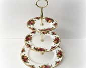 Old Country Roses 3-Tier Cake Stand Royal Albert China