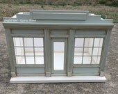 RESERVED FOR JENNY   1:12 Shabby Chic Little Green Dollhouse Miniature Roombox French Shop Shoppe