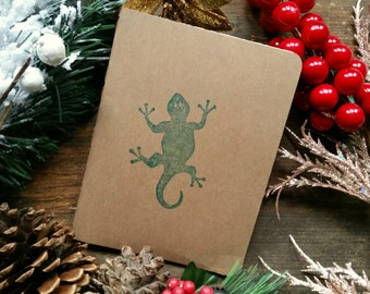 Blank notebook / journal (small), cardboard cover, 32 pages, rounded corners, cotton sheets, stitched spine, sketching/writing
