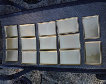 Laquerware trays lot of 14 1960's Japan Gold and Black
