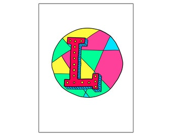 L | printable miniposter A4 and US letter format | by-laura