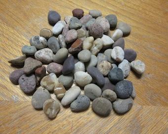 60 Beach Stones Mosaic stone Craft Supplies Lake Michigan Rock Supplies