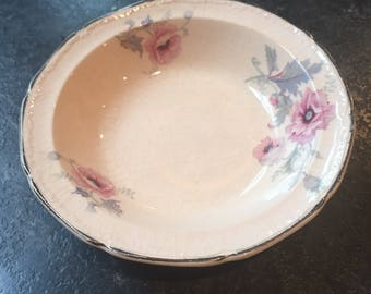 Alice Ann May glow 1931 Edwin M. Knowles China Berry Bowl Reduced due to damage.