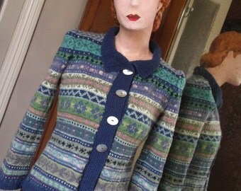 Hand Knitted Fairisle cardigan
