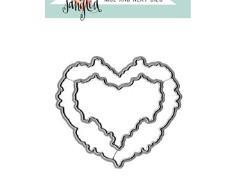 Neat & Tangled Floral Heart - Nice and Neat Die