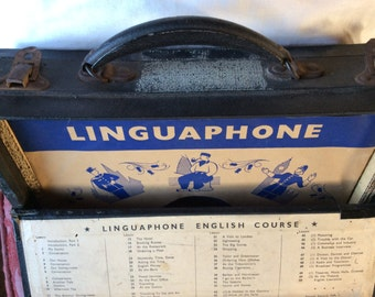 VINTAGE LINGUAPHONE RECORDS English course, language, boxed set, vinyl