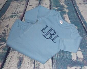 Baby Boy Gown Monogrammed