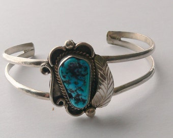 Sterling turquoise stone bracelet