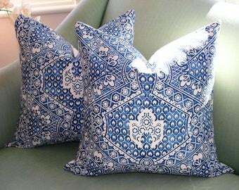 Ralph Lauren Blue Floral (B)  Pillow Cover