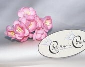 4 Mulberry Rose Coloured Sakura Cherry Blossom Hair Pins Bridal Headwear Tiara Clip pack 2