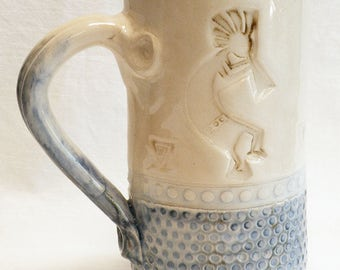 kokopelli stoneware 20oz ceramic coffee mug 20D034
