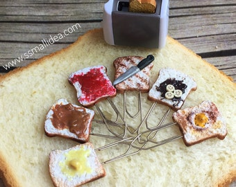 Food Miniature Paper Clips Breakfast Toasts