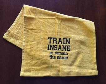 Personalized workout towel, sweat towel, exercise towel, sport towel, exercise gift, gym towel, 11 x 16