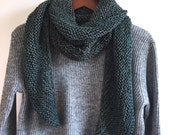 "Hand Knit Wrap ""Turquoise Stone"""