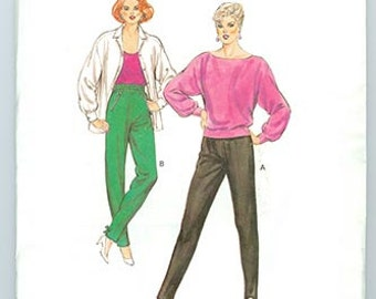 Kwik Sew Pattern 1492 Pants and Stirrup Pants 1980's NEW Misses Sizes 6-12