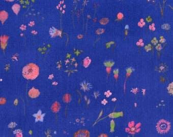 Nani Iro Sen ritsu Viera Blue, double gauze fabric by the yard