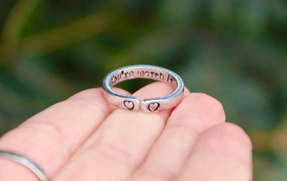 You're Worth It Mantra Ring
