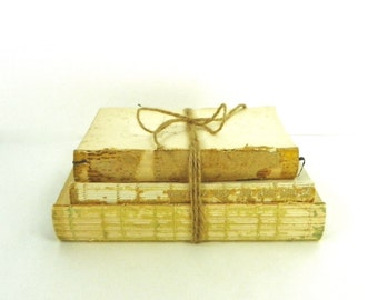 Distressed Book Stack, Antique Book Display, Unbound Books