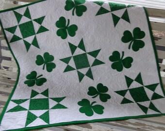 Shamrocks and Ohio Stars, decorator quilt 0403-01