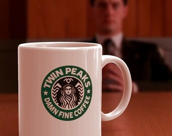Twin Peaks Starbucks Coffee Mug, 11oz or 15oz Damn Fine Coffee