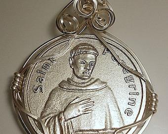 Saint Peregrine Religious Medal Pendant