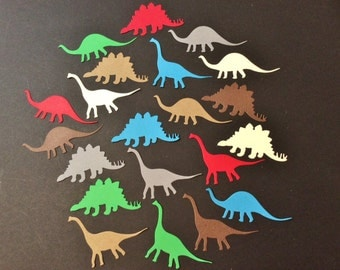 21 Cute Dinosaurs, 3 Different Ones, CONFETTI, Blue, Gray, Dark Brown, Beige, Red, Sizzix, Handmade, Die Cuts, Cardstock