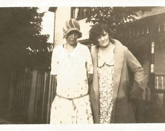 "Vintage Photo ""Her Brother Was A Flapper"" Teenage Boy Dressed Up As Flapper Found Vernacular Photo"