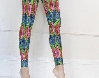 Neon Leggings ,  Yoga Wear, Holiday LWomen Leggings, Women clothing,Post maternity Leggings , Body Shaping Wear