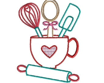 Bake Off Machine Embroidery Design-INSTANT DOWNLOAD-4 sizes