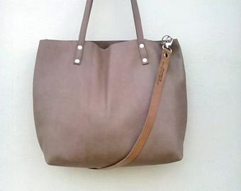 Leather zipper tote   Etsy