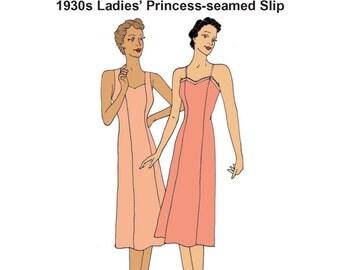RH1316 — 1930s Princess Slip