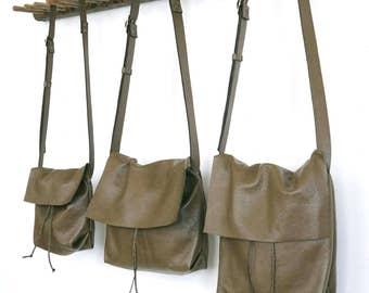 Bolsa - Messenger Bucket Crossbody Bag - Moss