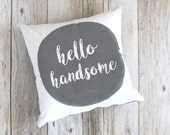 His and Hers Pillows, Wedding Gift, Good Morning Beautiful, Hello Handsome, Throw Pillows, Pillow Set