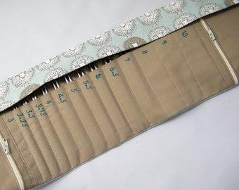 Interchangeable Needle Case- Holds 3mm-10mm interchangeable needle tips. Sheep fabric