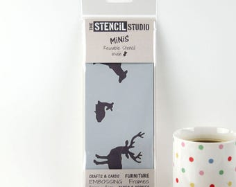 Deer / Stag / Fawn Stencil - Stencil MiNiS from The Stencil Studio. Handy little reusable shabby chic stencils for home decor and crafts!