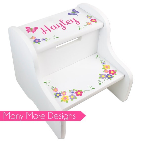 Like this item?  sc 1 st  Etsy & Personalized STEP Stool for Girlu0027s Custom Stepping Stools islam-shia.org
