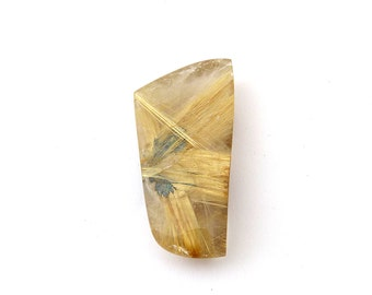 Gold Rutilated Star Quartz Gold Rutile Designer Cabochon Gemstones 20.4x41.2x8.0 mm 56.8 carats Free Shipping
