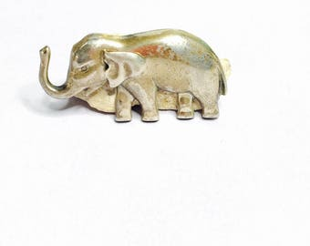 Vintage silver Elephant Brooch/Pin, Animal  Design, collectors gifts, Item No. S189b