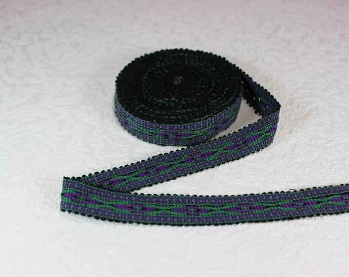 Woven Trim (6 yards), Woven Border, Cotton Ribbon, Grosgrain Ribbon, Dress Border, Border Trim, R144
