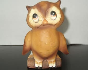 Vintage Owl Napkin Holder Ceramic Collectible Owl Napkin or Letter Holder