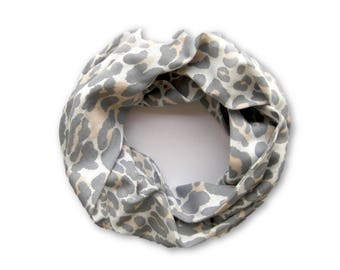 Girls Leopard Scarf, Child Scarf, Toddler Scarf, Childrens Clothing, Baby Bib Scarf, Girl Toddler Scarf, Infinity Scarf, Ready To Ship